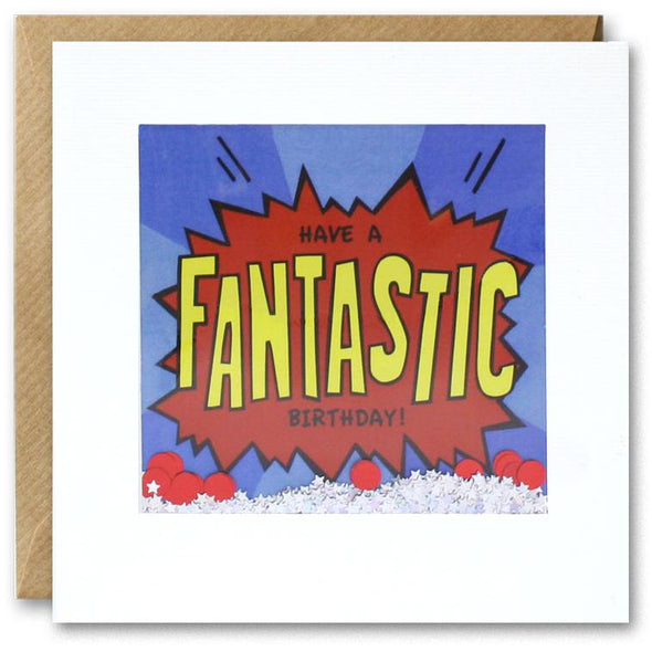 PK2844 - Fantastic Birthday Kapow Shakies Card