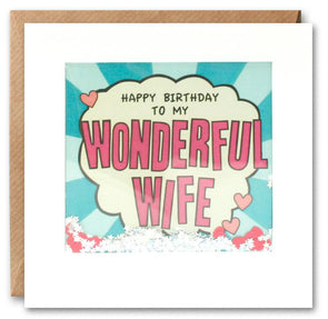 PK2861 - Wonderful Wife Kapow Shakies Card