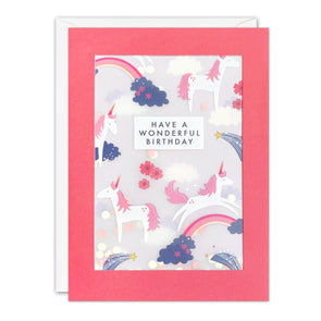 PL3525 - Unicorn Pattern Paper Shakies Card