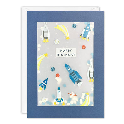 PL3527 - Rocket Pattern Paper Shakies Card