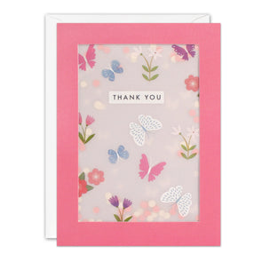 PL3528 - Butterfly Thank You Pattern Paper Shakies Card