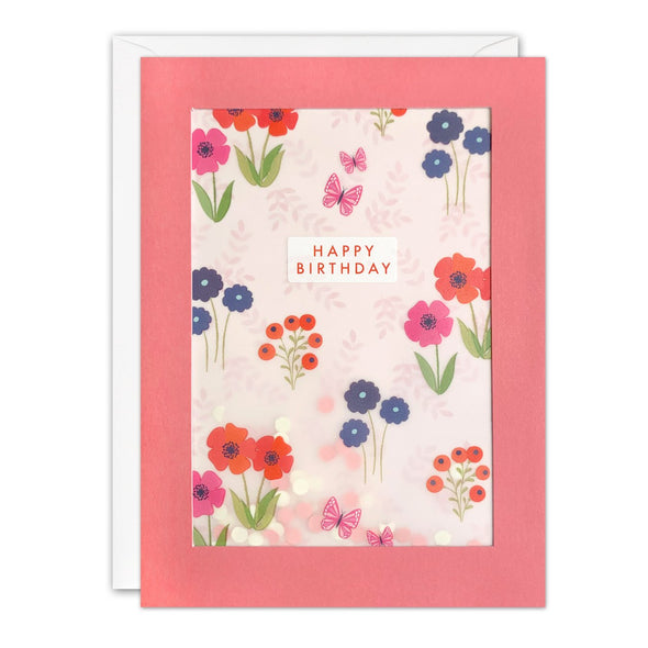PL3532 - Flower Pattern Paper Shakies Card