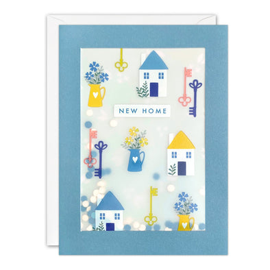 PL3533 - New Home Pattern Paper Shakies Card