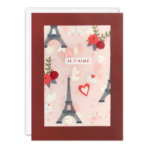 PL3555 - Paris Valentine's Day Paper Shakies Card