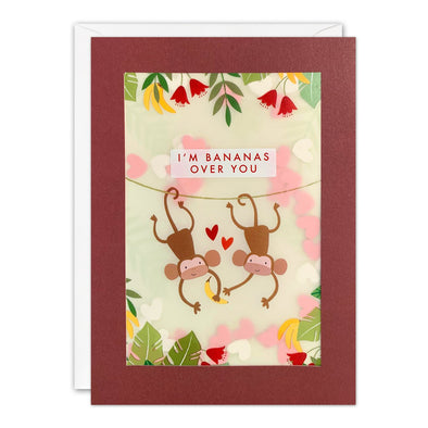PL3557 - Monkeys Valentine's Day Paper Shakies Card