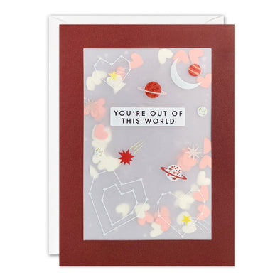 PL3558 - Outer Space Valentine's Day Paper Shakies Card