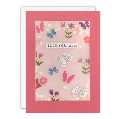 PL3559 - Butterflies Mother's Day Paper Shakies Card