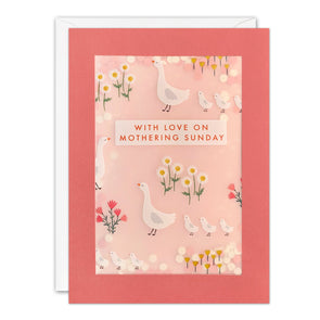 PL3560 - Geese Mothering Sunday Paper Shakies Card