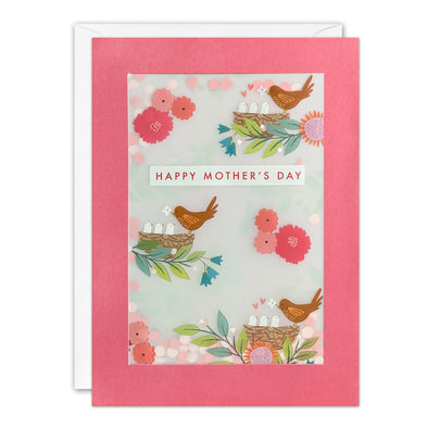 Birds Mother's Day Card with Paper Confetti - Paper Shakies by James Ellis