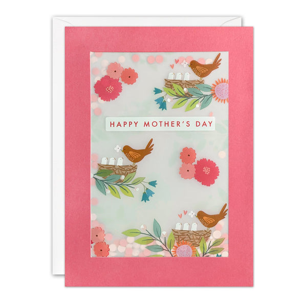 PL3562 - Birds Mother's Day Paper Shakies Card