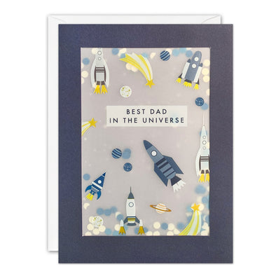 PL3565 - Rockets Father's Day Paper Shakies Card