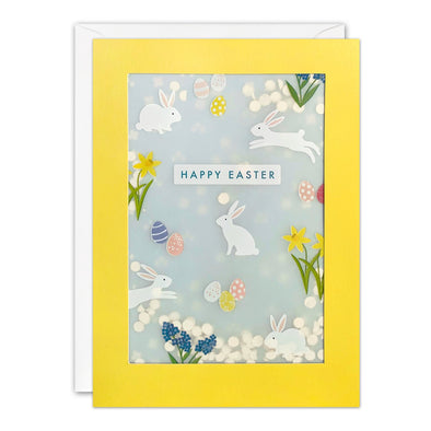 PL3567 - Easter Bunny Pattern Paper Shakies Card