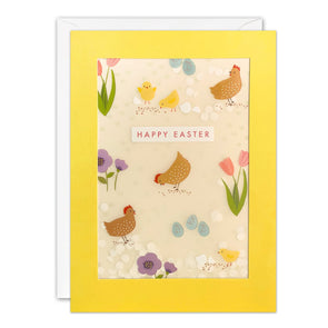 PL3568 - Easter Chicken Pattern Paper Shakies Card