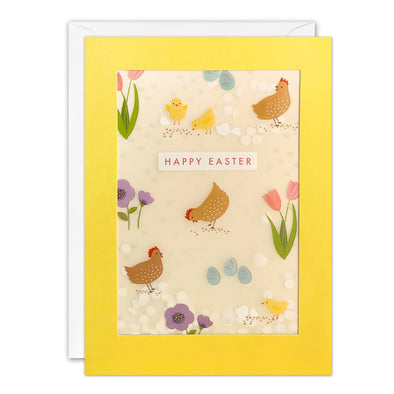 Chickens Easter Card with Paper Confetti - Paper Shakies by James Ellis