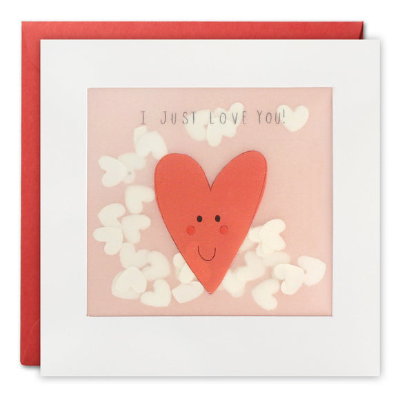 PP3310 - Just Love You Heart Paper Shakies Card
