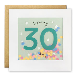PP3321 - Age 30 Stars Paper Shakies Card
