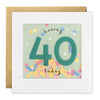 Age 40 Birthday Card with Colourful Paper Confetti - Paper Shakies by James Ellis
