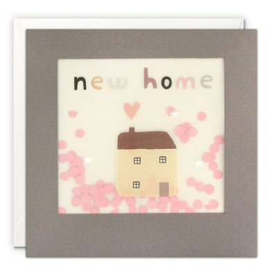 PP3342 - New Home House Grey Paper Shakies Card