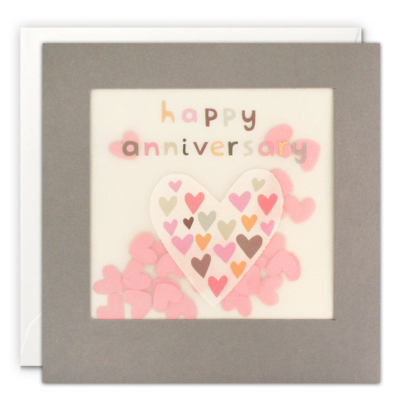PP3344 - Anniversary Heart Grey Paper Shakies Card