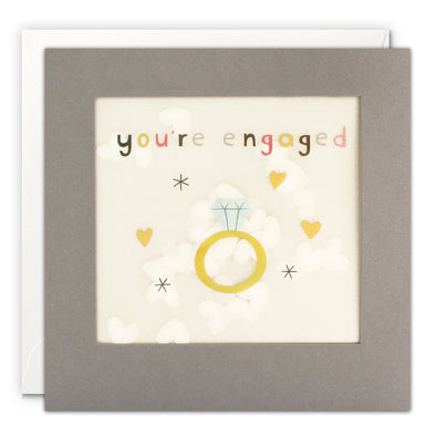 PP3345 - Engagement Ring Grey Paper Shakies Card