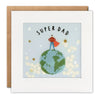 Super Dad Father's Day Card with Paper Confetti - Paper Shakies by James Ellis
