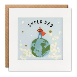Super Dad Paper Shakies Card