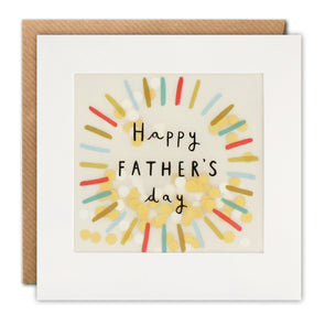 Father?s Day Colourful Circle Paper Shakies Card