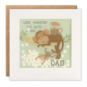 Dad Monkeys Paper Shakies Card