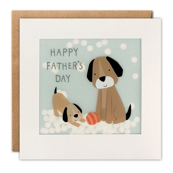 Father's Day Dogs Paper Shakies Card