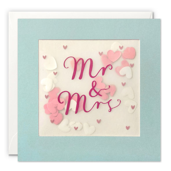 PP3443 - Silver Mr & Mrs Paper Shakies Card