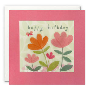 PP3540 - Birthday Flowers Paper Shakies Card