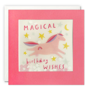 PP3542 - Magical Unicorn Paper Shakies Card