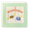 Animal Mobile New Baby Card with Paper Confetti - Paper Shakies by James Ellis