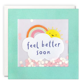 PP3551 - Feel Better Soon Rainbow Paper Shakies Card