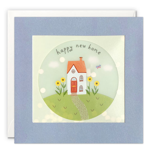 House and Sunflowers Happy New Home Card with Paper Confetti - Paper Shakies by James Ellis
