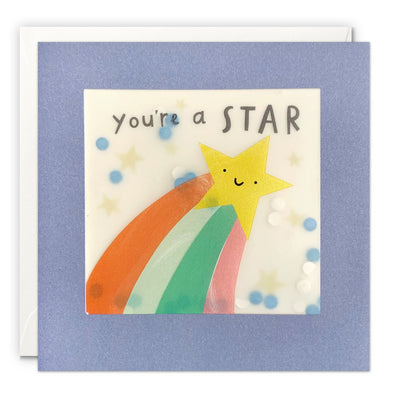 PP3553 - You're a Star Colourful Paper Shakies Card