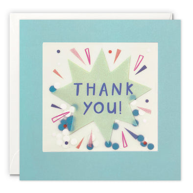 Star Burst Thank You Card with Paper Confetti - Paper Shakies by James Ellis