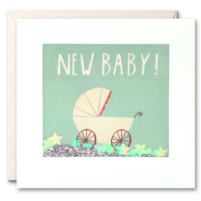 PS2286 - New Baby Pram Shakies Card