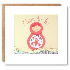 PS2406 - Russian Doll Mum to Be Shakies Card