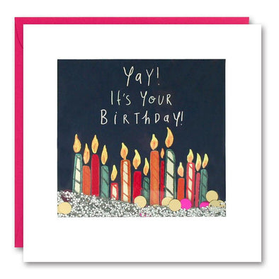 PS2523 - Colourful Candles Shakies Card