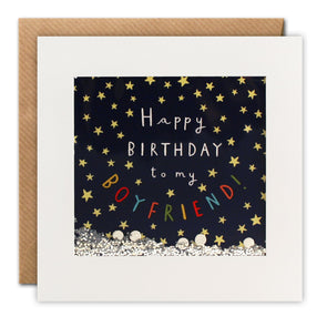 PT2869 - Boyfriend Stars Birthday Shakies Card
