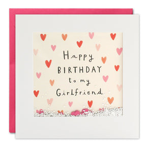 PT2873 - Girlfriend Hearts Birthday Shakies Card