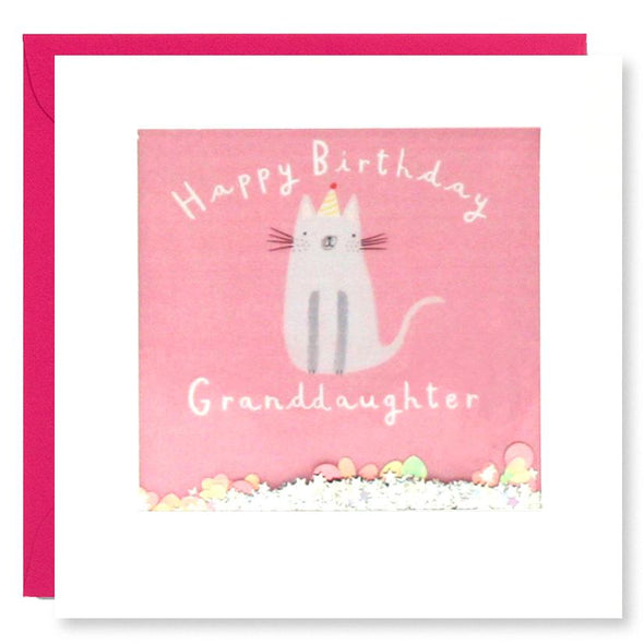 PT2875 - Granddaughter Cat Birthday Shakies Card