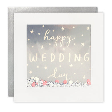 PT2894 - Happy Wedding Day Foiled Shakies Card