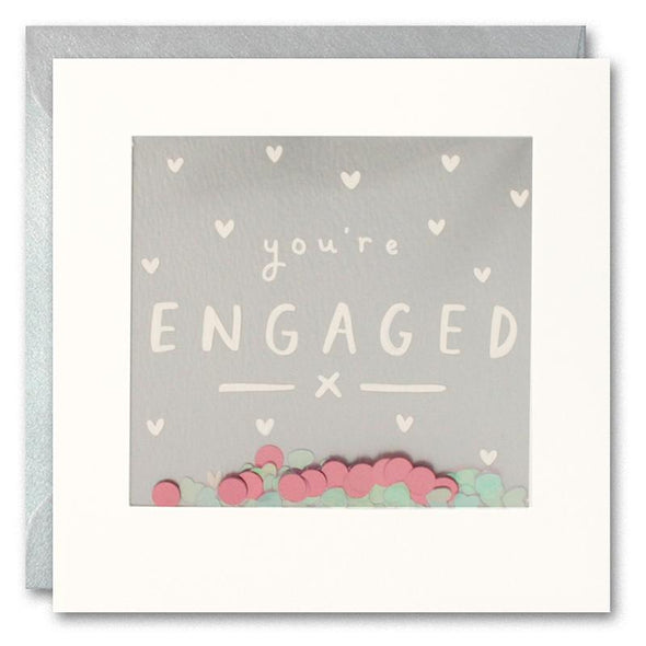 PT2905 - You're Engaged Foiled Shakies Card