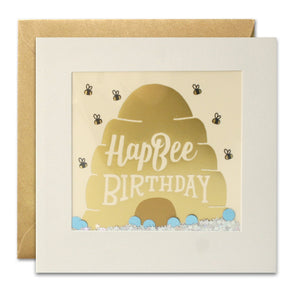 PT3008 - HapBee Birthday Foiled Shakies Card