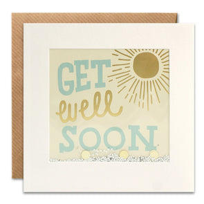 PT3051 - Get Well Soon Sun Foiled Shakies Card