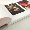 personalised photo album close up