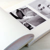 Personalised Silver Leaf Christening Photo Album with Blue Text