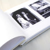 Personalised Wedding Cloth Bound Photo Album With Colourful Hearts